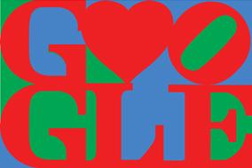 Glad Alla Hjärtans Dag önskar Robert Indiana & Google