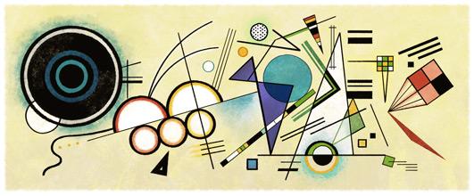 Wassily Kandinskys 148e födelsedag