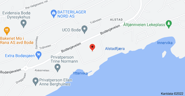 Kart over Bodøsjøveien 50, 8013 Bodø, Norge