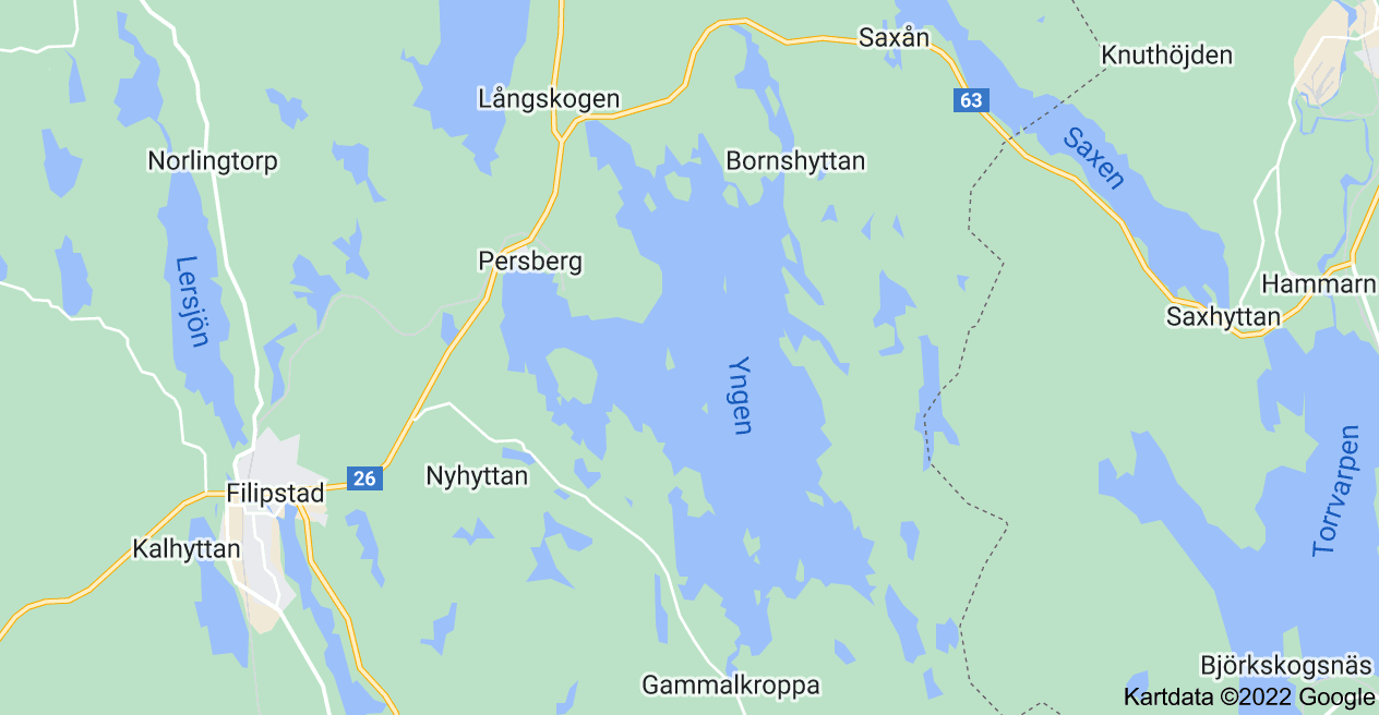 Karta över Yngen, Filipstad Ö