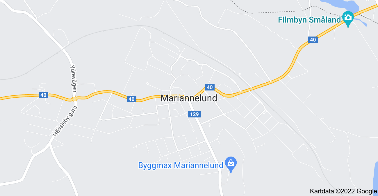 Karta över 598 97 Mariannelund