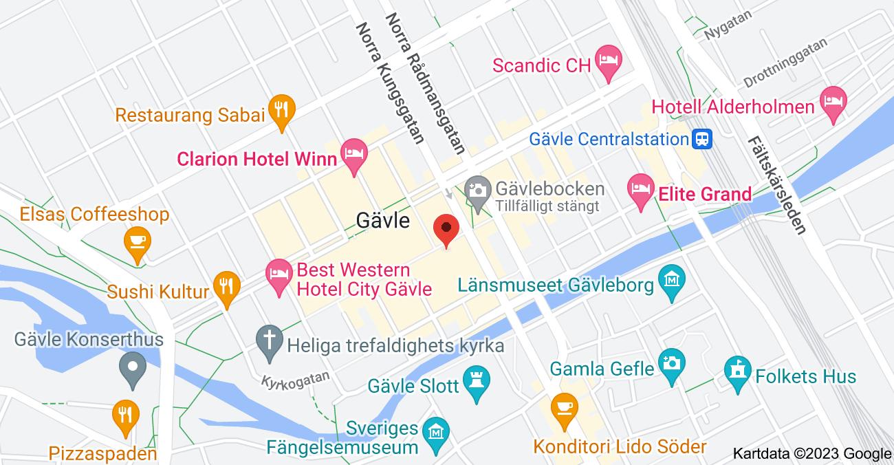 Karta över Drottninggatan 18, 803 20 Gävle
